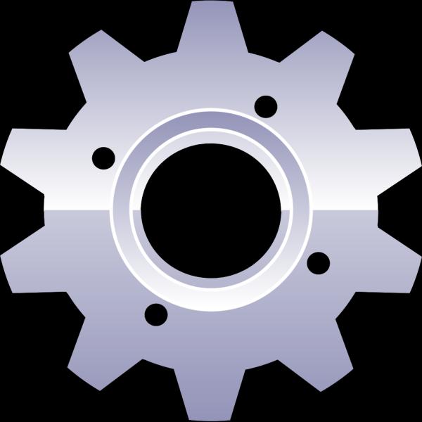 Blue Gear Multimedia PNG Clip art