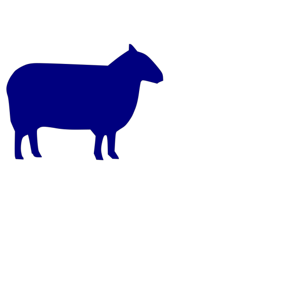 Blue Sheep PNG clipart