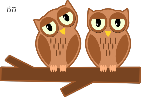 Birds On A Branch PNG clipart
