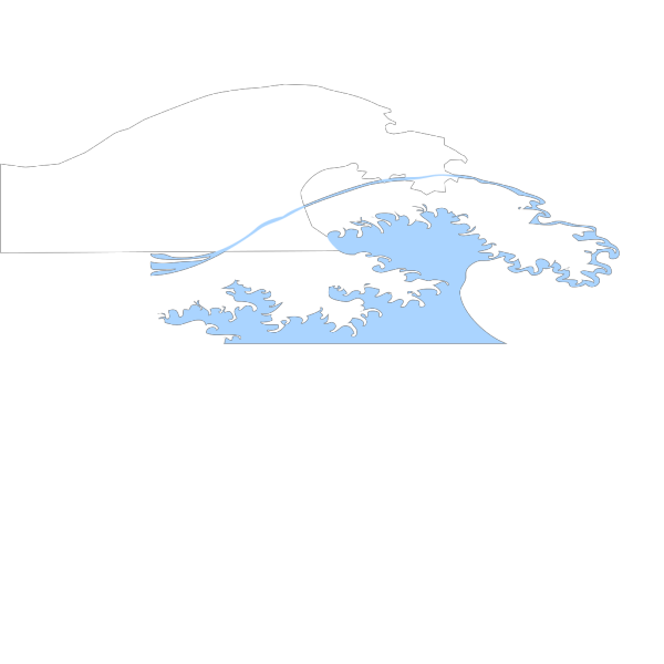 Light Blue Wave PNG Clip art