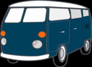 Blue Old Van PNG Clip art