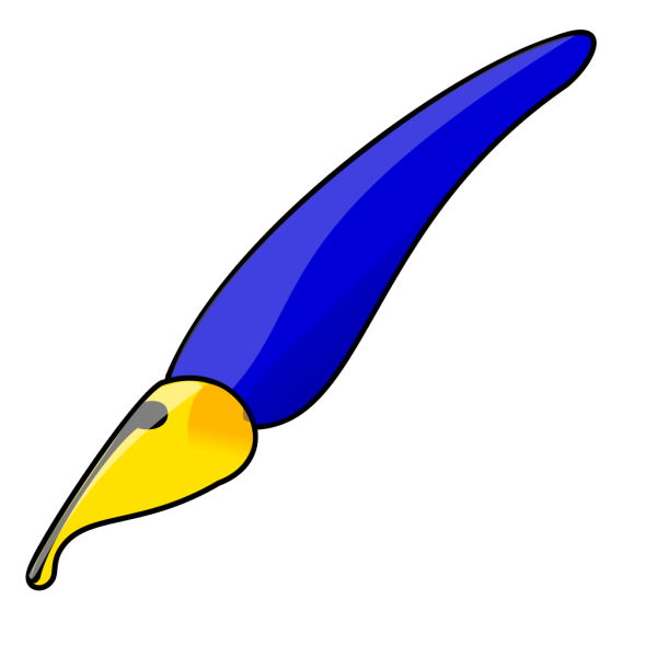 Fancy Blue Pen PNG Clip art