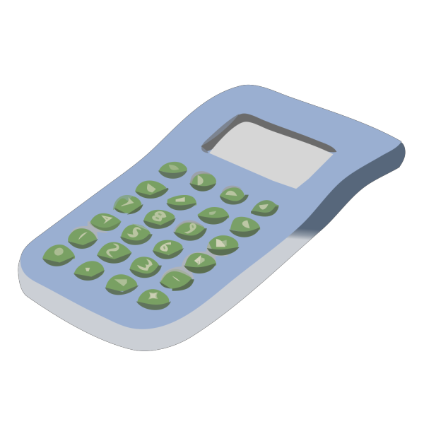 Simple Blue Calculator PNG Clip art