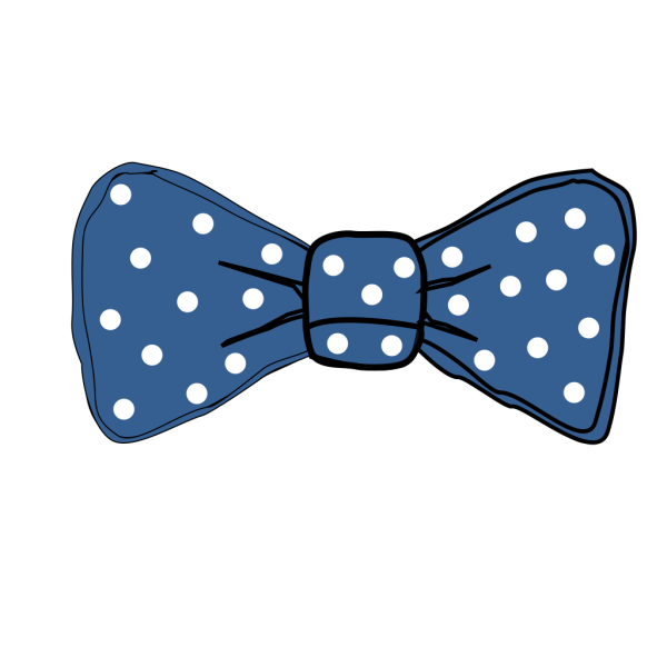 Bow Tie Blue With White Dots PNG Clip art