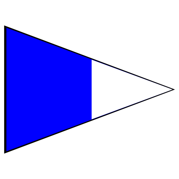 Blue And White Signal Flag PNG Clip art