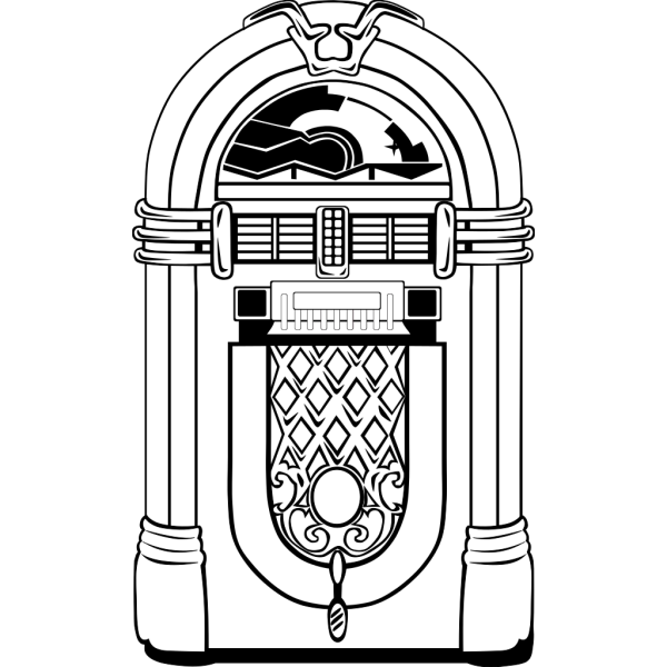 Pink And Blue Jukebox PNG Clip art
