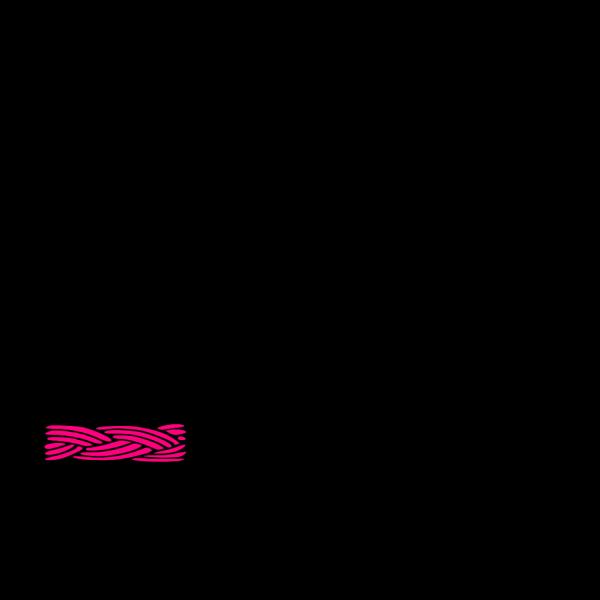 Braid Border Pink PNG Clip art