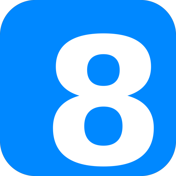 Blue Number One PNG Clip art