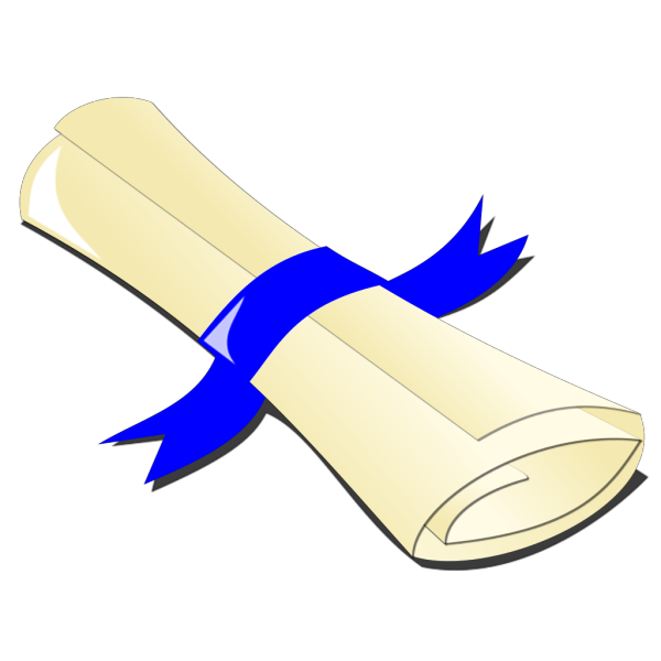 Diploma Blue Big PNG clipart