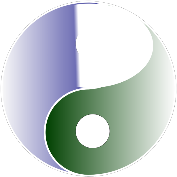 Extra Large Of Yin Yang Blue & Green PNG Clip art