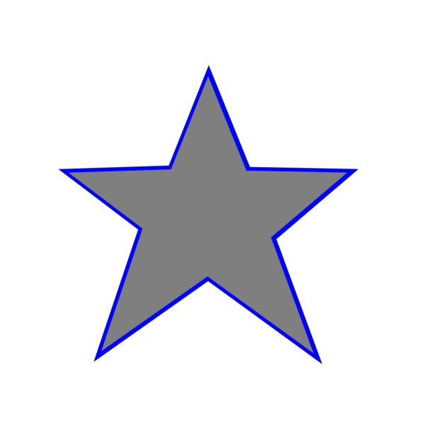 Silver Blue Star  PNG Clip art