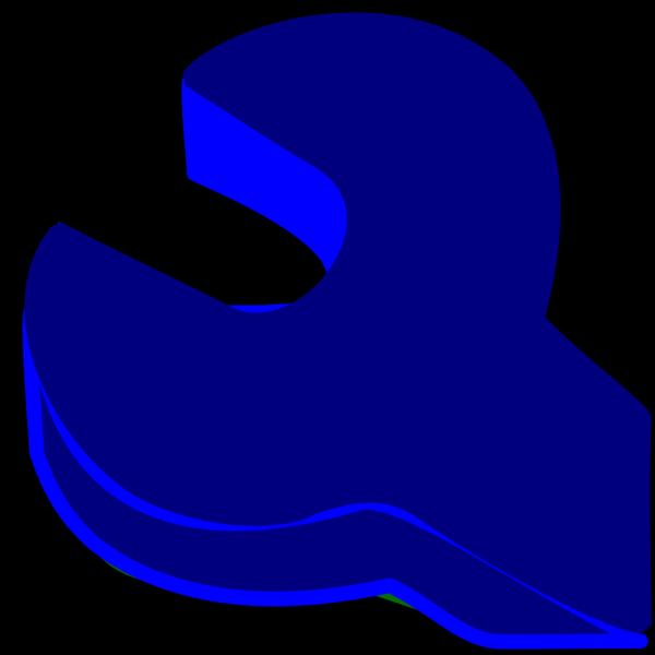 Spanner Screwdriver Blue Outline PNG images