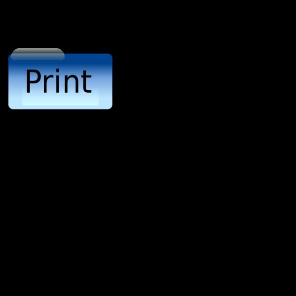 Print Button PNG Clip art
