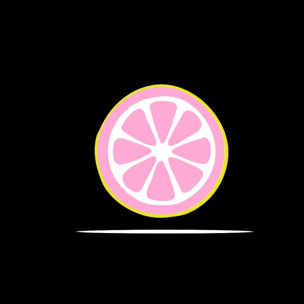 Lemon Slice  ( Cotton Candy ) PNG Clip art