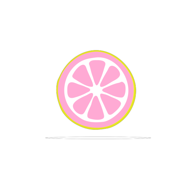 Lemon Slice  ( Blue ) PNG images