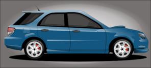 Small Blue Car PNG Clip art