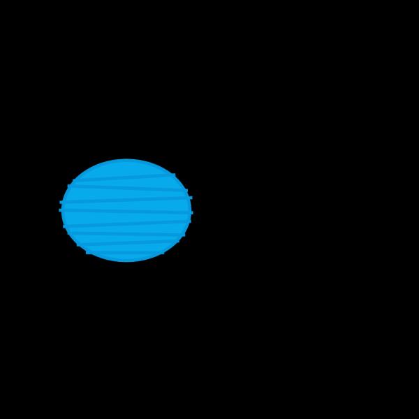 Blue Paper Lantern 2 PNG Clip art