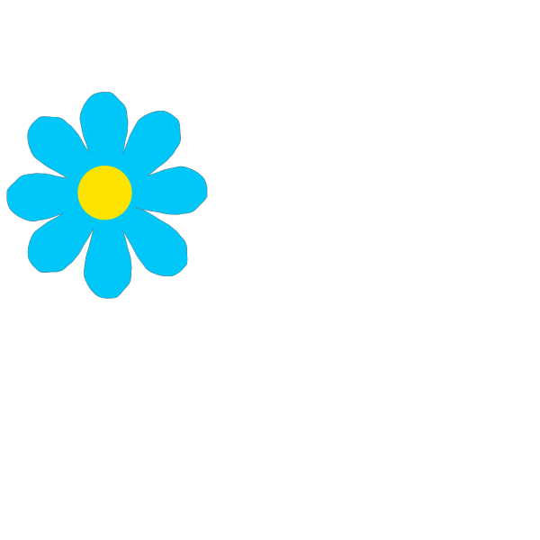 Bright Blue Flower PNG Clip art
