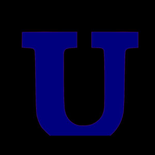U Letter Blue PNG Clip art