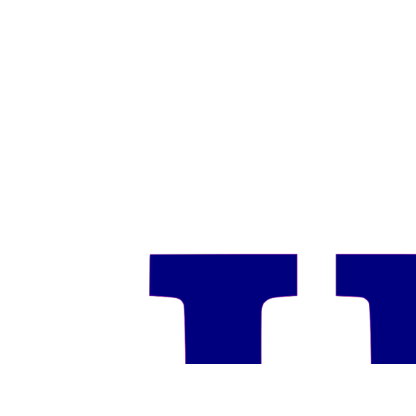 U Letter Blue PNG icon