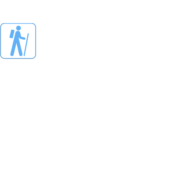 Bluish Hiker PNG Clip art