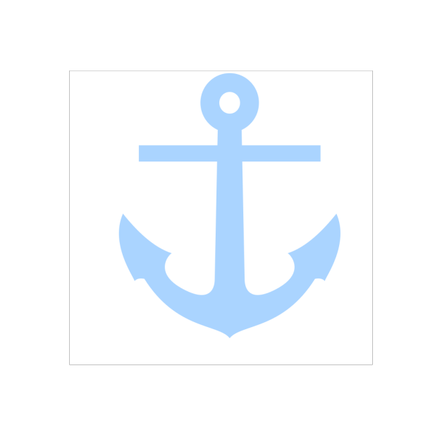 Light Blue Anchor PNG icons