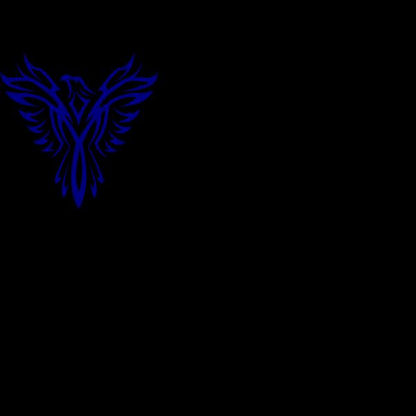 Phoenix-blue PNG Clip art