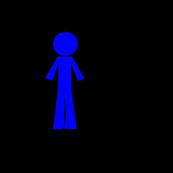 Personsticklightblue PNG Clip art