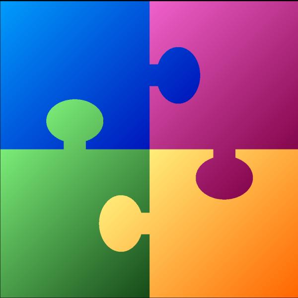 Square Puzzle PNG Clip art