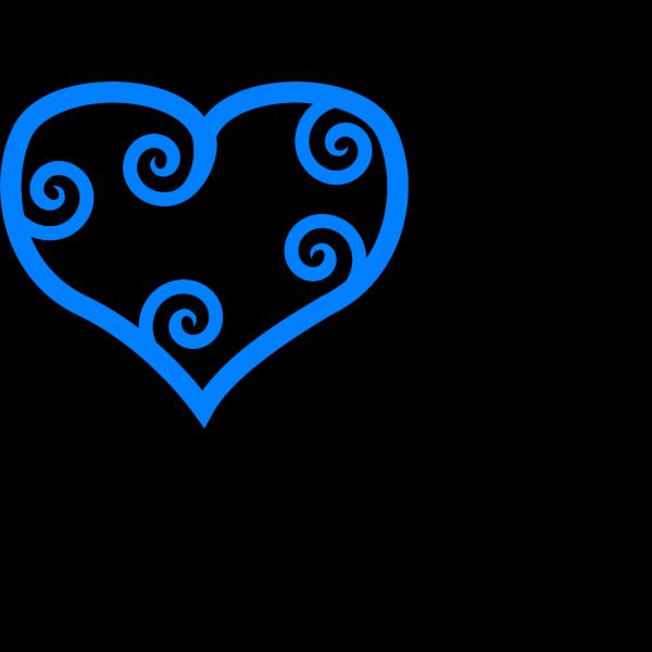 Heart Blue PNG Clip art