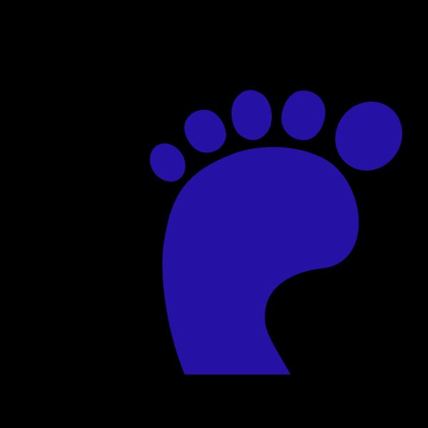 Blue Left Foot PNG Clip art