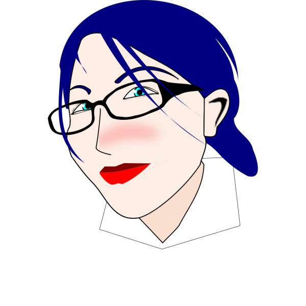 Blue Haired Woman PNG Clip art