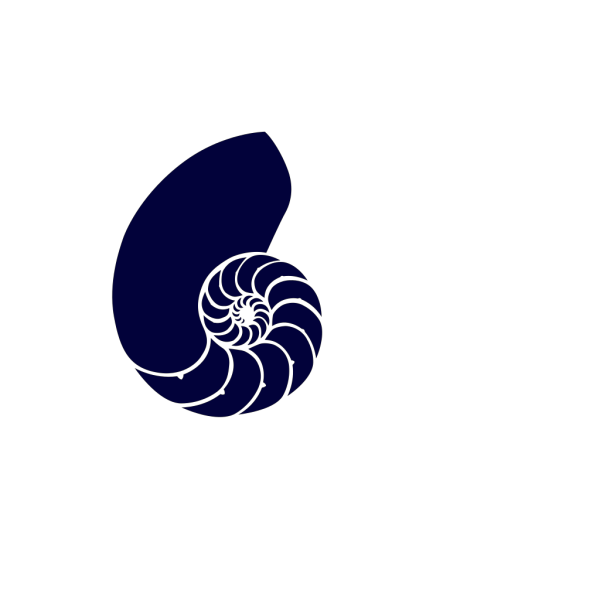 Navy Blue Nautilus Shell PNG Clip art