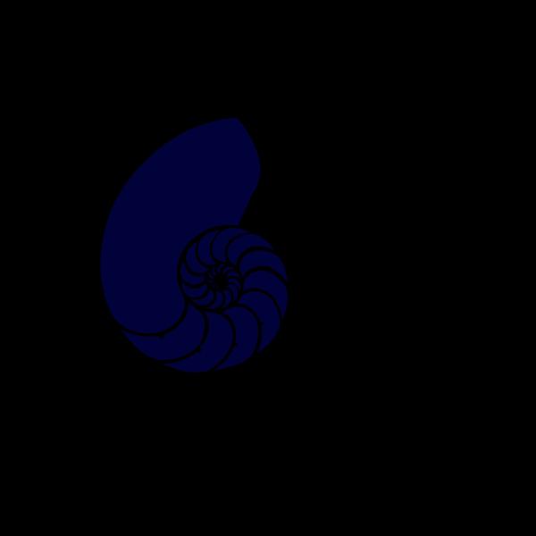 Navy Blue Nautilus Shell PNG Clip art