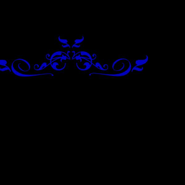 Swirl Blue Florish PNG Clip art