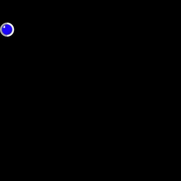 Blue  Led On PNG Clip art
