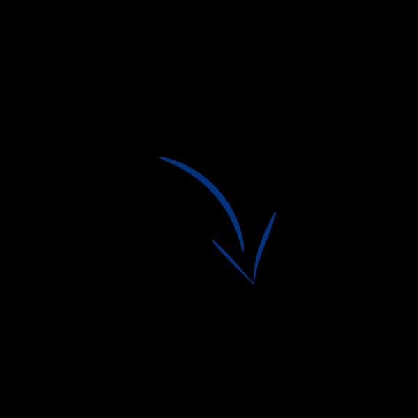 Arrow Left Blue PNG Clip art