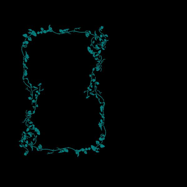 Blue Flower Border PNG Clip art