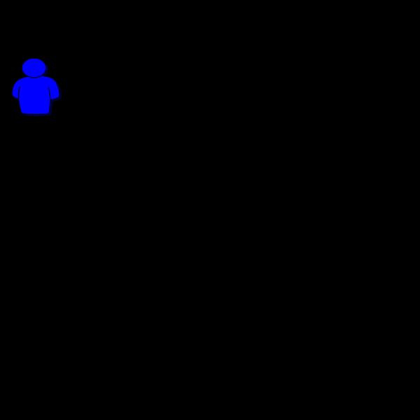 Person Shape Blue PNG Clip art