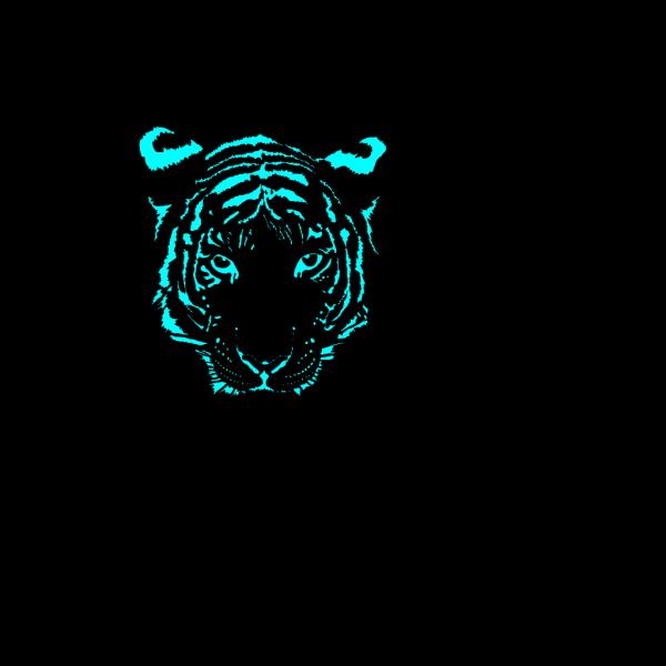 Blue Tiger PNG Clip art