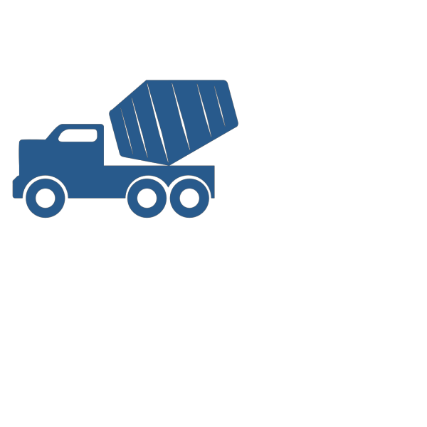 Blue Dump Truck  PNG Clip art