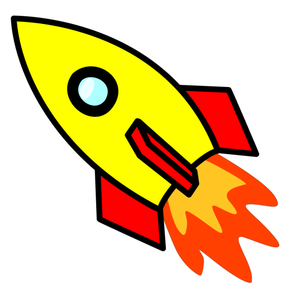Rocket Blue Yellow PNG Clip art