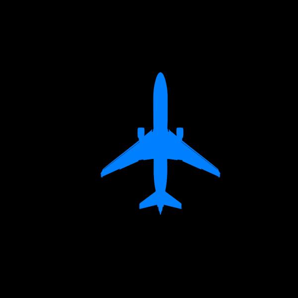 Light Blue Plane PNG Clip art