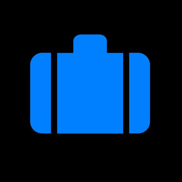 Light Blue Baggage PNG Clip art