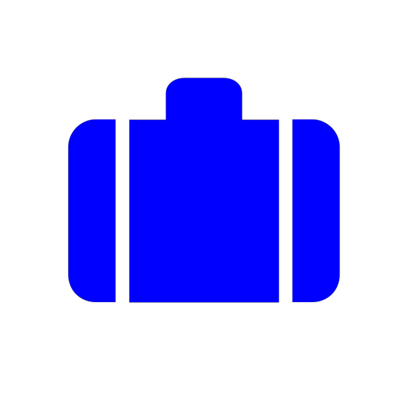 Dark Blue Baggage PNG Clip art