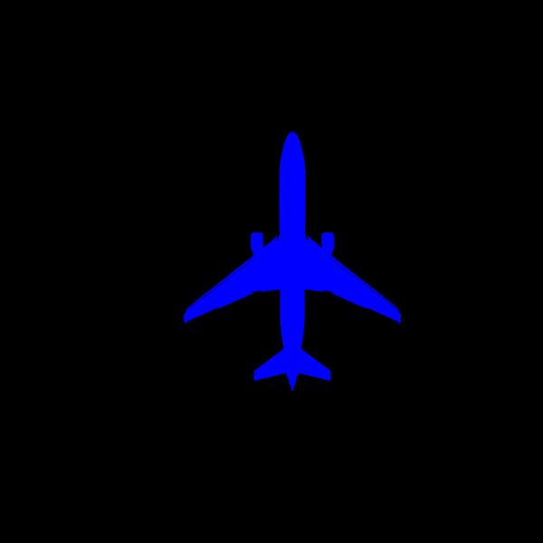 Dark Blue Plane PNG Clip art