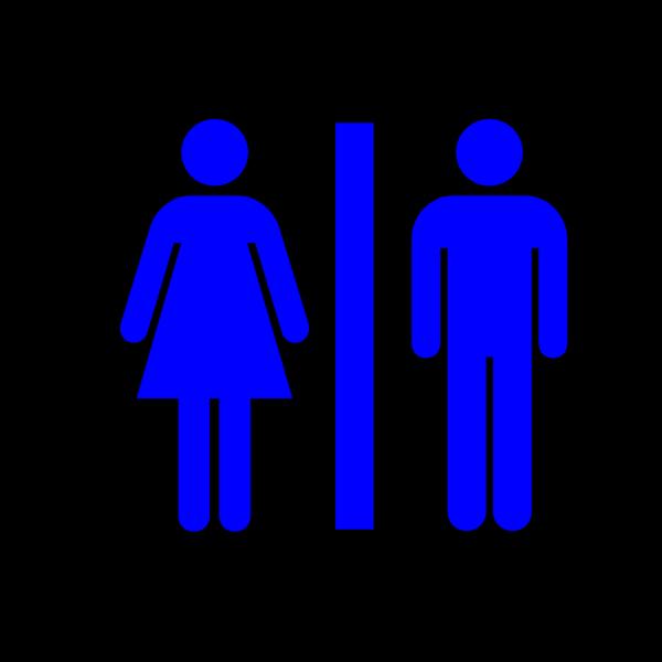 Dark Blue Restroom PNG Clip art