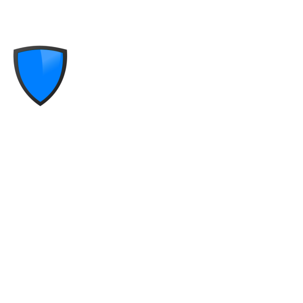 Blue Shield With Dark Edge PNG Clip art