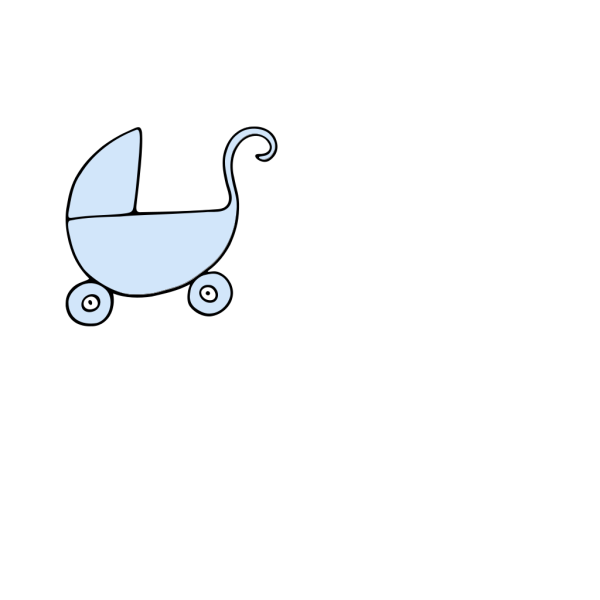 Blue Pram New PNG Clip art