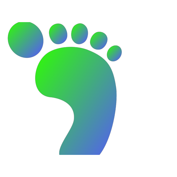 Green/blue Right Foot PNG Clip art